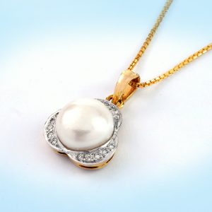 Diamond and Pearl Pendent