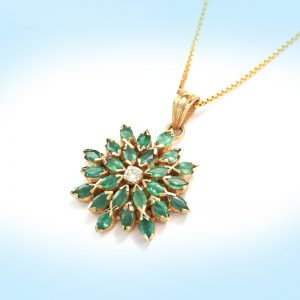 Diamond and Emerald Pendent