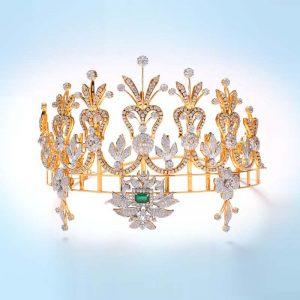 Diamond and Emerald Crown