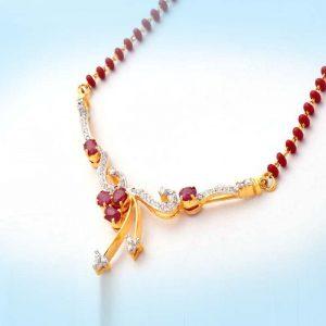 Diamond and Ruby Mangalsutra